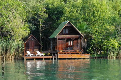 Wooden House On Ada Bojana River, Montenegro