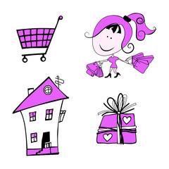 розовый набор подарок