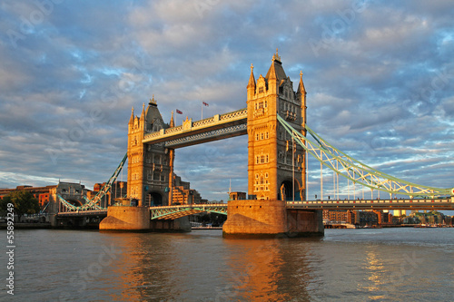 tower bridge at beautiful sunset, london, england
