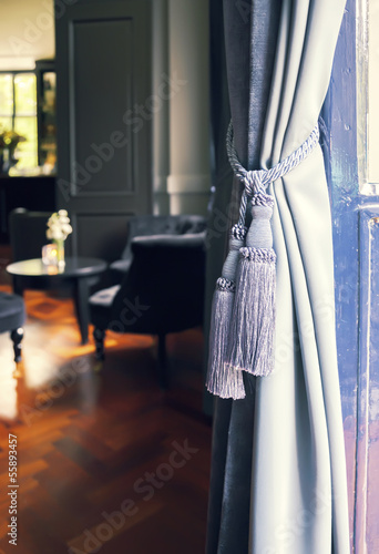 Curtains in classic interior