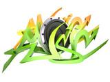 Graffito text