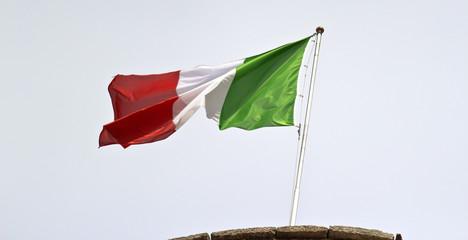 Italian fluttering flag color image