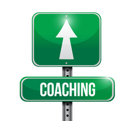 coaching road sign illustration design