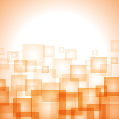 Abstract orange vector background with squares