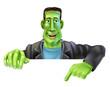 Frankenstein Witch Pointing Down