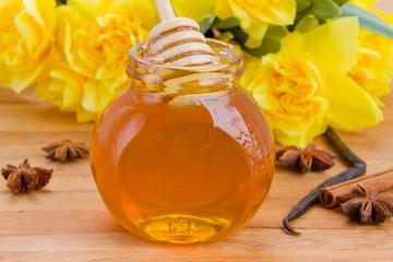 floral jar of  honey