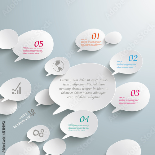 Bevel Speech Bubbles Infographic Design