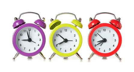 multicolored clock