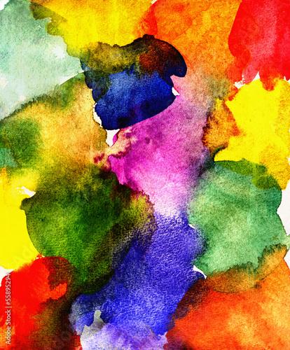 canvas print picture aquarell farbflächen bunt
