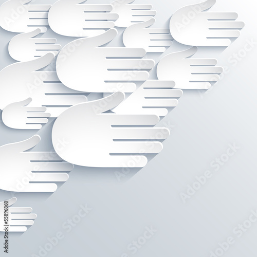 Abstract hands background. Vector illustration