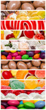 Delicious Sweets Background Collage With Confectionery