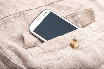 Smartphone in the pocket.