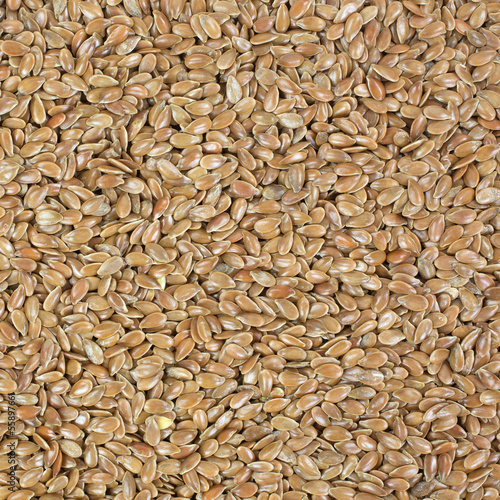 Close view raw flaxseed