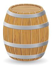 Madera ilustración vector barril