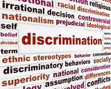 Discrimination social issue concept