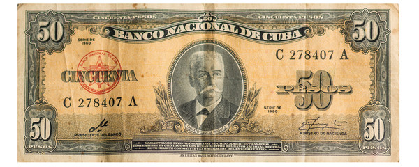 Cuban Fifty Bill dating from 1960