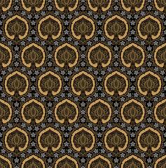 The vintage seamless pattern, the stylized pomegranate.