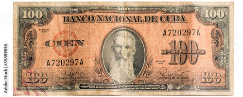 Cuban Hundred Bill dating from 1959