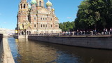Saint-Petersburg. Church of the Savior on Blood. Timelapse