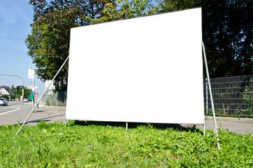 Wahlplakat Werbung Blank