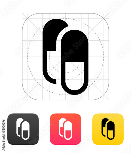 Pills Capsule icon. Vector illustration.