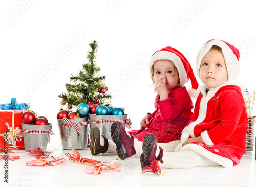 two little Santa