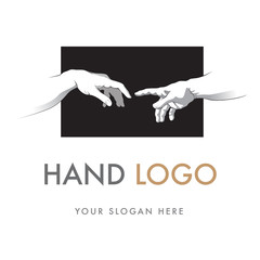 Hand Logo, Creation of Adam, Sistine Chapel