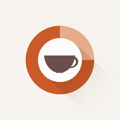 Coffee time, flat design, vector