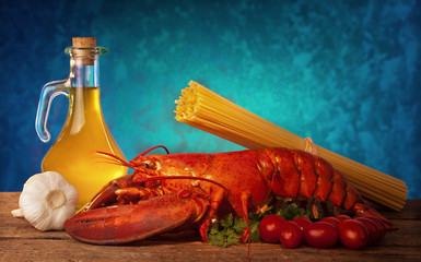 Recipe of lobster with linguine