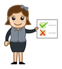 Checklist Showing - Cartoon Business Vector Illustrations