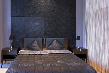 Sparkling bedroom detail