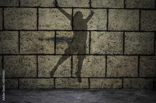 The Jumper silhouette on the wall