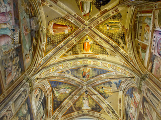 Ceiling of Castellani Chapel in Basilica di Santa Croce.