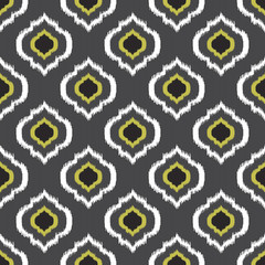Ikat seamless pattern for web design or home decor