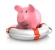 Sparschwein mit Rettungsring 2