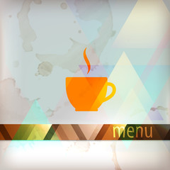 menu design with coffee sign