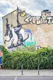 Mural with dead animals in Kreuzberg, Berlin, Germany