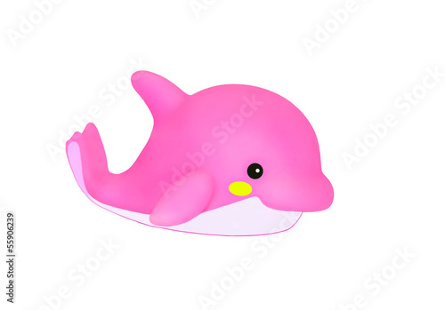 Fotobehang Dolfijnen pink dolphin