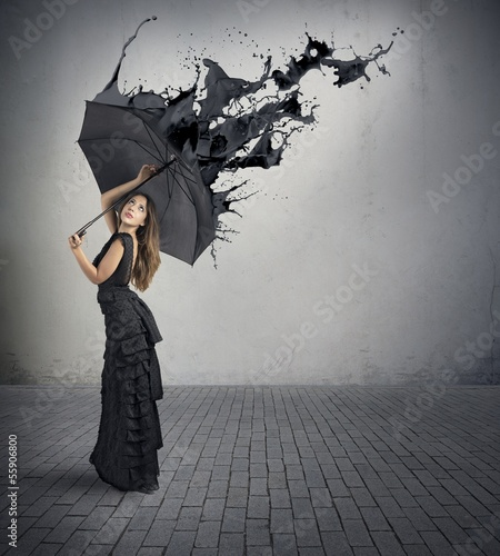 Black color splash