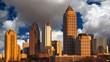 Atlanta Georgia with Time Lapse Clouds
