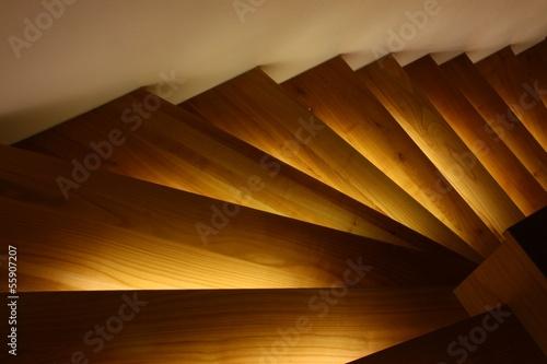 canvas print picture beleuchtete treppe v2 I