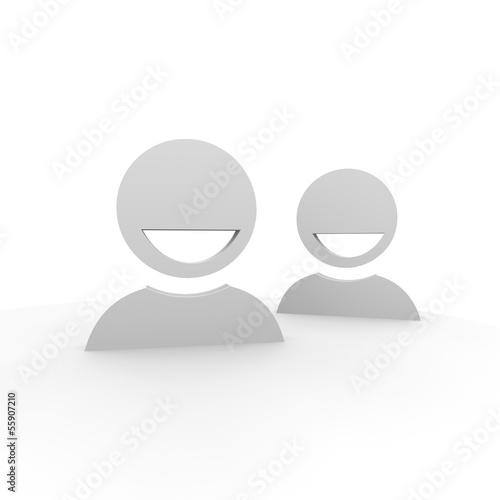 personen, team, lächeln, icons,