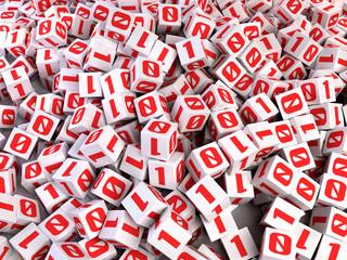Bits cubes - Digital data