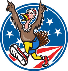 American Turkey Run Runner Cartoon