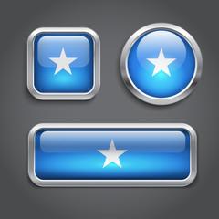Somalia  flag glass buttons
