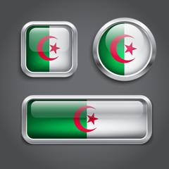 Algeria flag buttons