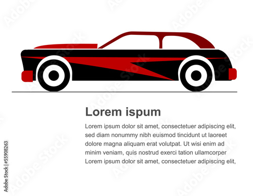 An illustration of sportier car graphic icon