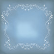 Beautiful blue background with frame.