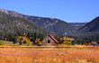 Old barn near Yellowstone national park