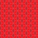 Red rhombuses geometric seamless pattern